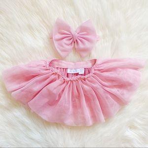 Children's Place Bow + Tutu Skirt Set Size 0-6M